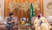 سمو ولي العهد يلتقي الرئيسة التنفيذية لحكومة هونج كونج