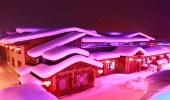 المنازل البيضاء و المناظر الساحرة تجذب السياح إلى قرية الثلوح الصينية كل عام
