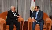 الرئيس المصري يبحث مع نظيره الفلسطيني آخر المستجدات حول القدس
