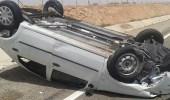 إصابة قائد سيارة إثر انقلابها بطريق مكة – مزدلفة