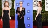 """جميلات السينما تعلن الاحتجاج على التحرش بفساتين سوداء في """" جولدن جلوب """""""