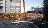 بالصور.. سقوط رافعة تستخدم في البناء ببلجيكا