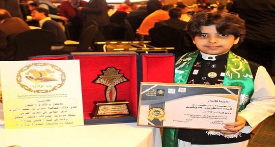 """بالصور.. تكريم الطفل السعودي """" الشهيري """" كأصغر إعلامي عربي"""