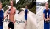 بالفيديو.. مذيعة تفقد التحكم في نفسها بمقابلة مع شاب وسيم