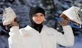 """فيلم كارتوني يجعل """" زهراء لاري """" أول محجبة عربية تحترف التزلج"""
