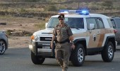 العثور على رشاش بصحبة سائق صدم سيارة شرطة في عسير