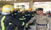 مدير مدني الباحة يقوم بجولة لإدارة الدفاع المدني بالمخواه