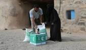 بالصور.. مركز الملك سلمان للإغاثة يوزع 1500 سلة غذائية في مأرب
