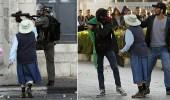 بالفيديو.. مسنة تتدخل لتهدئة الاشتباكات بين الاحتلال ومحتجين فلسطينيين
