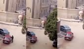 بالفيديو.. لحظة إطلاق عنصر إرهابي النار على كنيسة بمصر لاقتحامها