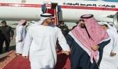 سمو ولي العهد يستقبل الشيخ محمد بن زايد لدى وصوله الرياض