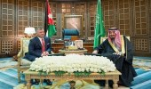 خادم الحرمين الشريفين وملك الأردن يعقدان جلسة مباحثات رسمية