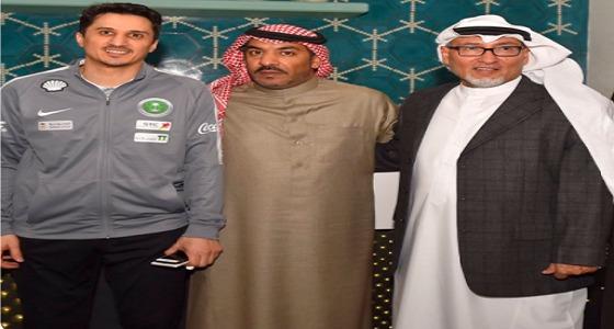 """رئيس بعثة المنتخب في """" خليجي 23 """" يحتفي بالإعلاميين بالكويت"""