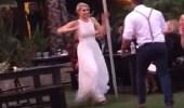 بالفيديو.. سقوط مروع لفتاة خلال رقصها في حفل زفاف صديقتها
