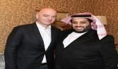 """بعد اجتماعه مع رئيس """" الفيفا """" .. تركي آل شيخ يؤكد: اجتماع إيجابي جدًا"""