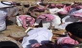 """بالصور .. الآلاف يشيعون جثمان شهيد الواجب """" القحطاني """" بجازان"""