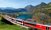 تدشين أعلي قطار معلق في العالم بسويسرا