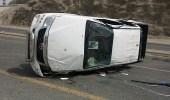 """اصطدام مركبتين بسبب السرعة الزائدة على طريق المدينة بـ """" جدة """""""
