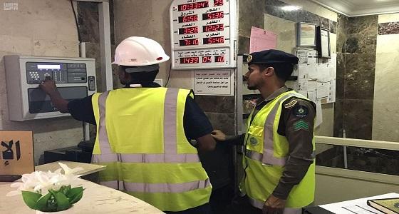 الدفاع المدني بمكة يقف على 500 منشأة الشهر الماضي