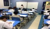 بالصور.. طلاب وطالبات يؤدون اختبار قياس القدرات بتعليم مكة