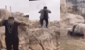 بالفيديو.. لحظة سقوط رجل من قمة جبل أثناء احتفاله بعيد ميلاده