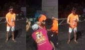 بالفيديو.. شاب يفجر صاروخ ألعاب في وجهه