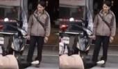 بالفيديو.. رد فعل صادم لزوج تشاجر مع زوجته في الشارع