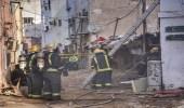 بالصور.. مدني جدة يخمد حريقا اندلع بمنزل شعبي