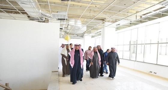 """بالصور.. """" الركيان """" يتفقد مراحل استكمال مشروع مبنى الإدارة العامة الجديد"""