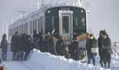 تقطع السبل بـ430 شخصًا على متن قطار بسبب عاصفة ثلجية في اليابان