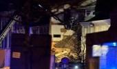 بالفيديو والصور.. 14 مصابا نتيجة لانفجار غاز في بلجيكا