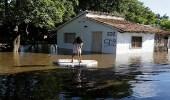 بالصور..أمطار غزيرة تتحول إلى فيضانات وتغرق منازل باراجواي