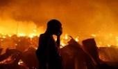 حرائق ضخمة تلتهم المنازل فى الأحياء الفقيرة بمنطقة كيجيجي الكينية