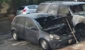 بالصور.. احتراق مركبتين لموظف بالقطاع الأمني في جدة