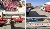 بالصور.. جولة تفتيشية على البسطات العشوائية في بيش