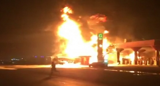 القبض على شخص حاول إحراق محطة وقود بمكة