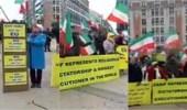 """بالفيديو.. احتجاجات الجالية الإيرانية امام الاتحاد الأوروبي بعد دعوة """" ظريف """""""