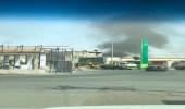 """حقيقة اندلاع حريق بـ """" دحضة """" وعلاقته بصاروخ الحوثي الباليستي"""