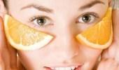 اللبن و البرتقال لبشرة أصغر سنًا