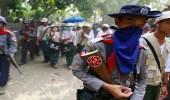 مقتل وإصابة 13 متظاهر من البوذيين برصاص الشرطة ببورما