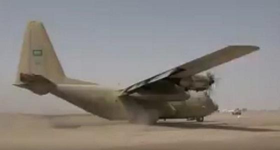 شاهد.. لحظة وصول المساعدات الإنسانية للشعب اليمني من الرياض