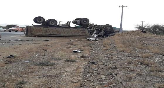 وفاة وإصابة 8 أشخاص من أسرة واحدة في حادث مروع بجازان