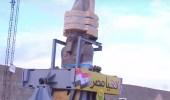 """بالفيديو.. نقل تمثال """" فرعون مصر """" رمسيس الثانى إلى بهو المتحف الكبير"""