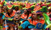 """بالصور.. مهرجان """" السود والبيض """" بكولومبيا بمشاركة الآلالف"""