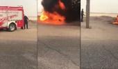بالفيديو.. سيارة إطفاء بلا مياه تؤدي إلى تفحم مركبة