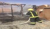 """"""" ماس كهربائي """" يتسبب في حريق بنجران"""