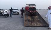 """"""" بلدية الخبر """" تحجز دبابات مخالفة بشاطئ """" العزيزية """""""