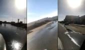 بالفيديو.. غرق أحد شوارع طريف في المياه المهدرة.. ومغردون يطالبون بسرعة التدخل