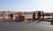 بالصور.. دوار يربط طريق عمر بن عبدالعزيز بالإمارة في ينبع