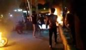 بالفيديو.. حرق بلدية طهران في إيران